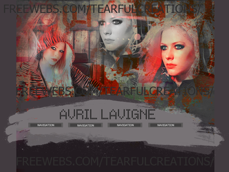 Avril Lavigne Layout by tearfulcreations