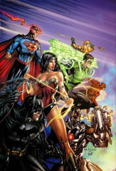 e.Bas Justice League of America  by ebas