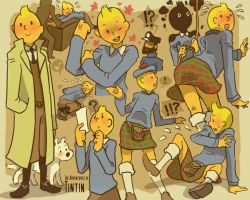 The Adventures of Tintin by khrssc