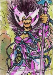 Deathbird by Alex Magno - 2016 Marvel Masterpieces by ElainePerna