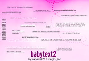 Babytext brushes, part 2 by Sanami276
