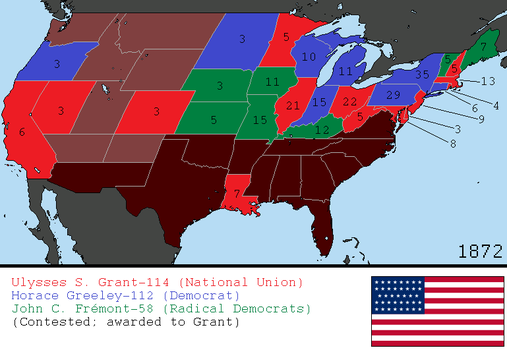 Alternate 1872 US Presidential Election by tylero79