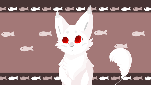 Albino kitten - Aku by ChaiCinno