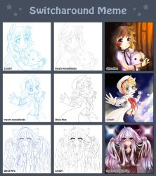 Switcharound meme with Oksa-Nya n MeatyNosebleeds by Lina01