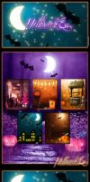 Halloween Eve Backgrounds by cosmosue