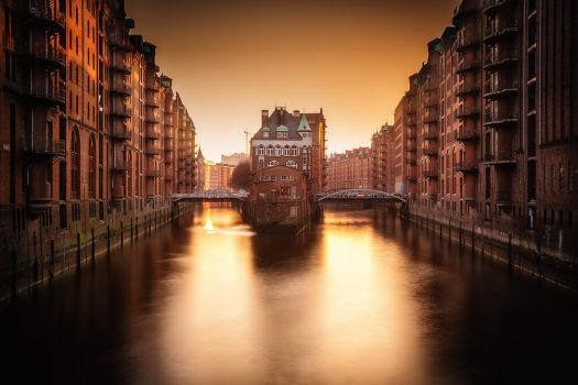 Hamburg warehouse district by Torsten-Hufsky