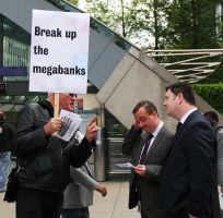 Bothering the Bankers 2 by LouHartphotography