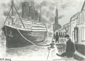 Titanic at Docks Final look by bedlamnac
