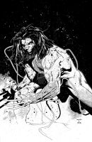 Coipel Weapon X - inks by JeffGraham-Art