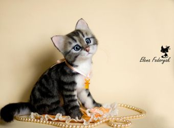 little kitten Businka (bead) by KittenBlackUA