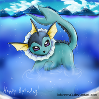 Vaporeon by kdareena