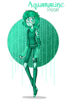 Aquamarine Pearl  by SpaceBananaZ