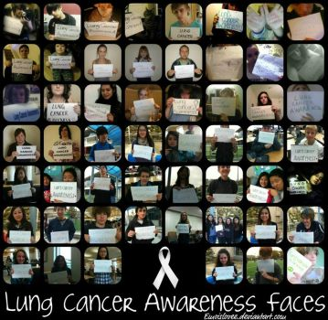 Lung Cancer Awareness Faces 2011 by Emoislovee