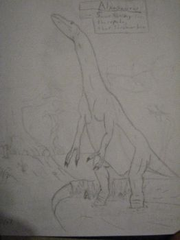 Alxasaurus by Fat-Ugly-Sloth