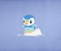 Paper Pokemon Piplup