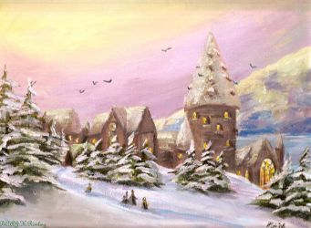 Winter at Hogwarts by Sukiitoko