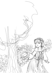 Sketch - Elf in the wood by Lulle313