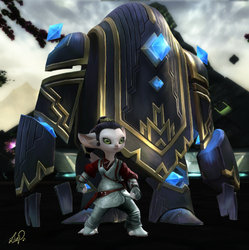 Asura and her Golem by LiviaZita