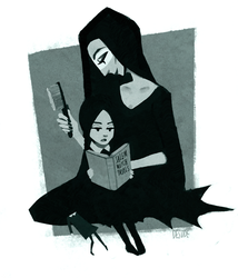 fall reading (halloweenies #2) by desude
