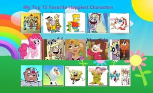 My Top 15 Favorite Happiest Characters by Bart-Toons