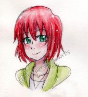 Chise - Water color by Freya-Mangaworks