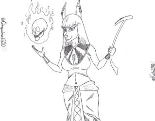 Nightshade Daughter of Anubis WIP by Omegadrive6500