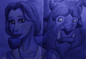 Belle and the Beast by Zebrapluschi