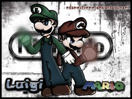 Mario and Luigi by edamextreme