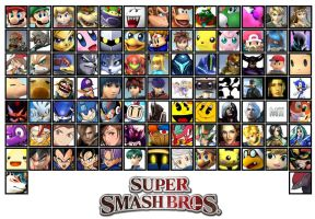 *FAN-MADE* New Super Smash Bros 4 Roster by Shadarkness