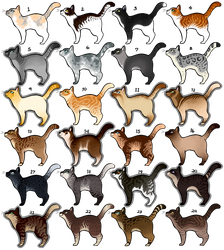 Natural Cat adopts - 100 points each open! by CaptainClovey