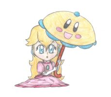 Chibi Super Princess Peach by lillilotus