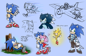 -STH Sonic Doodles- by Biko97