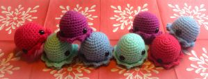 Cute octopus amigurumi toys (For sale) by thehobbypanda