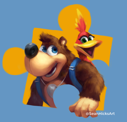 Banjo and Kazooie Speed Paint by Sean-the-Artist