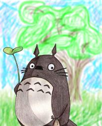 Totoro and Camphor Tree by Xybra