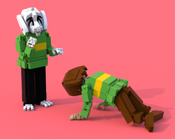 Lego Undertale Chara 3 by pb0012