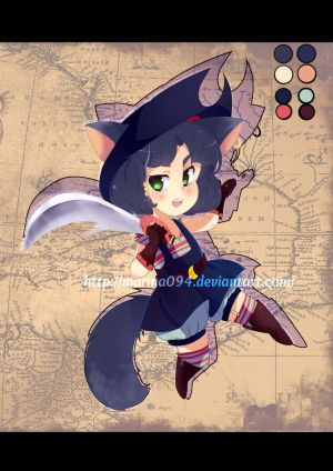 ADOPTABLE- 10$ -Pirate Kitty [Close] by marina094