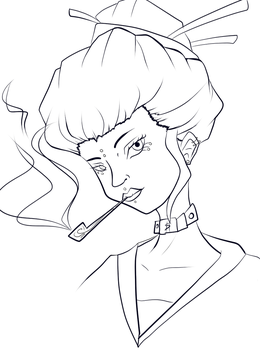 Here have some line art by nerdling18