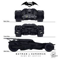 New Batmobil - Batman vs. Superman - Frontview by Paul-Muad-Dib