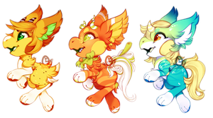 Chibi Mantibab YCH Congo Line by OMGProductions