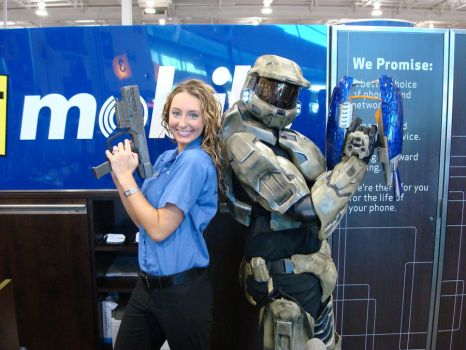 Halo Reach release at work by MasterChief42283