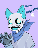 Blue Halloween by UniverseCipher
