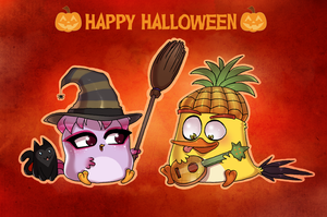 Happy Halloween by AngryBirdsArtist