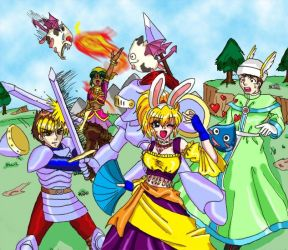 The OG crew in Dragon Quest 9 by KeiSteelsearch