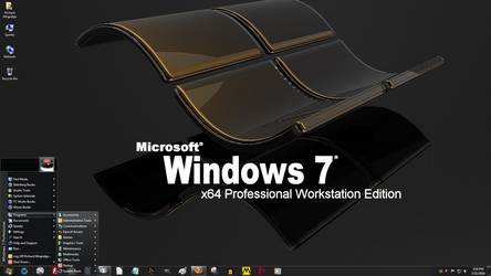 Windows 7 on Spanky - Dark Workstation Desktop by slowdog294