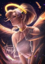 Christmas Angel Mercy .nsfw opt. by Axsens