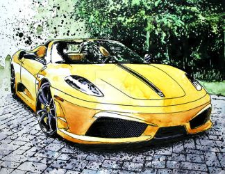 The New Ride - Ferrari 16M by ferrariartist