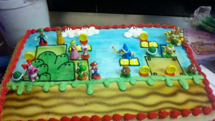 Admirable Mario Bros Birthday Cake By Captor2 Cakes On Deviantart Funny Birthday Cards Online Bapapcheapnameinfo