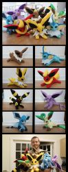 Eeveelutions Plushies by NsomniacArtist