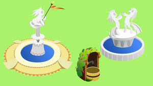 MLPonline fountains by Stabzor